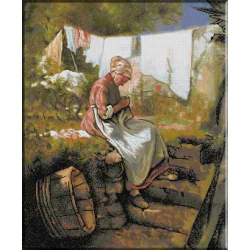 583.Grigorescu - Batrana carpind