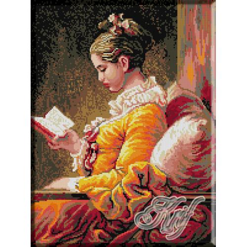 020.Fragonard. Doamna cu cartea