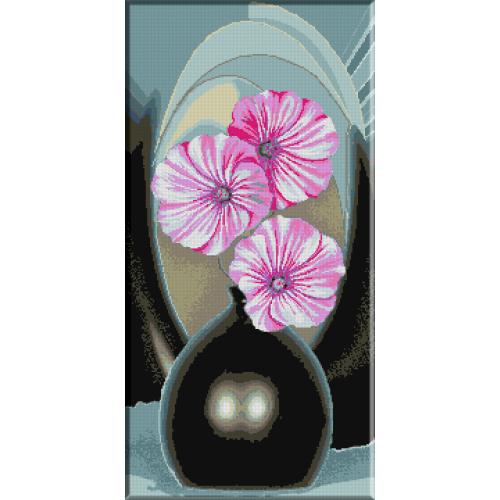 647. Coltul cu flori roz