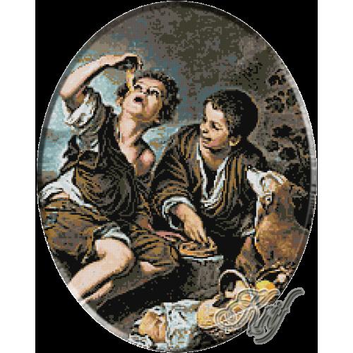 141.Murillo- Copii mancand placinte