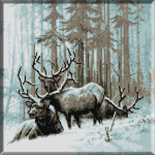 782. Ieslea cerbilor in iarna