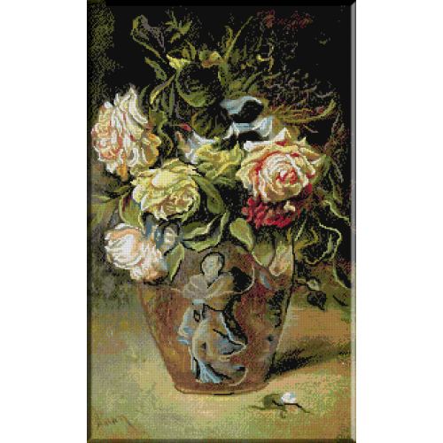 1049 - Aman.Vas cu flori