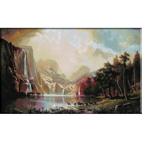 1069. Bierstadt - Muntii Sierra Nevada, California