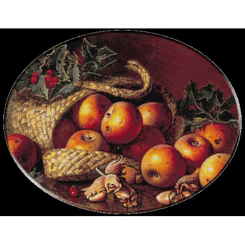 1148 - Eloise Harriet Stannard.Cos cu mere si ornamente de Craciun