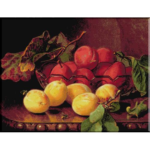 1153. Stannard-Prune intr-un vas de sticla