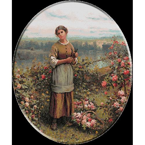 1288.Knight - Iulia culegand trandafiri