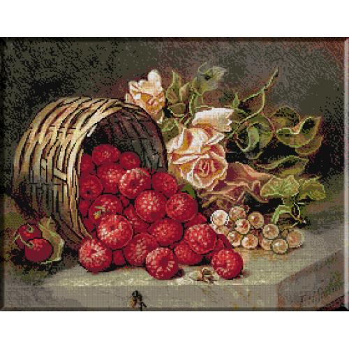 1331. Stannard - Cos cu zmeura si trandafiri