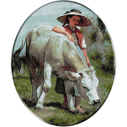 1342.Koller.Fata cu vaca
