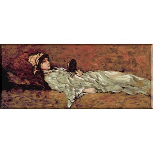 982.N.Grigorescu - Fata culcata cu oglinda
