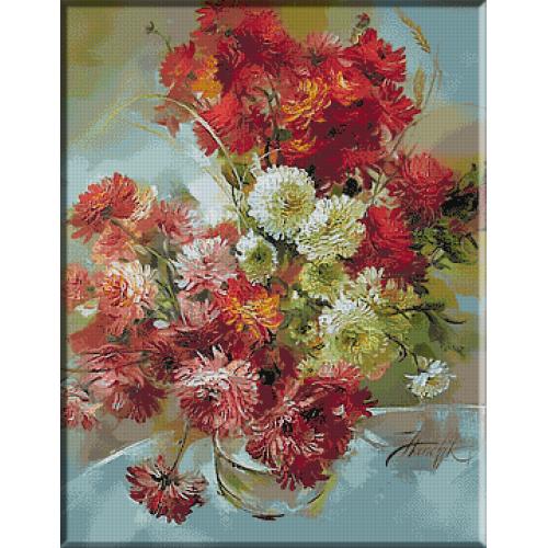 1564. Vas cu crizanteme