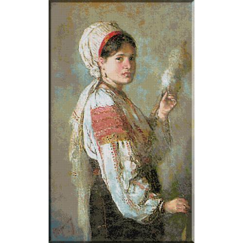 1430 N.Grigorescu - Taranca torcand