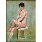 129.Andreescu- Nud pe scaun