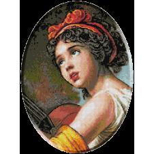 1117b. Le Brun - Julie Le Brun cu chitara