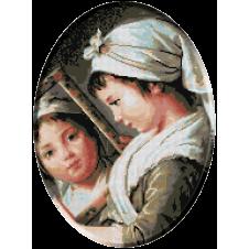 1121b. Le Brun - Julie Le Brun cu oglinda