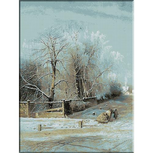1391. Savrasov - Peisaj de iarna