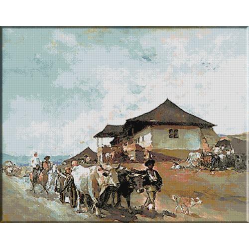 466.Grigorescu - Hanul de la Oratai