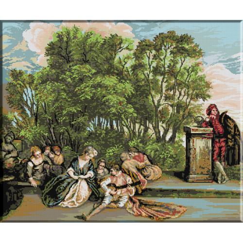 198.Watteau Odihna italiana