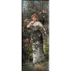 1669.Hans Zatzka - In gradina de trandafiri