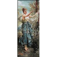 1671.Hans Zatzka - Fata cu flori