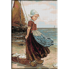 1887.Edmond Louyot - Micuta olandeza pe malul marii