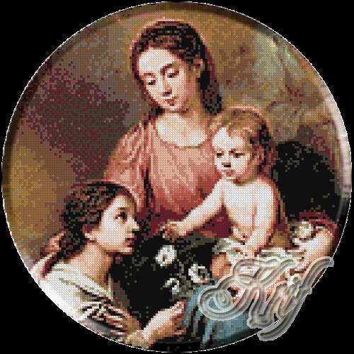 145.Murillo- Fecioara si copilul