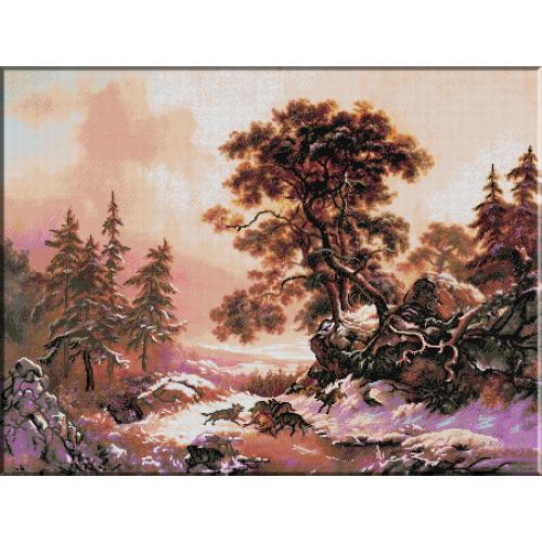 976.Kruseman-Lupi intr-un peisaj de iarna