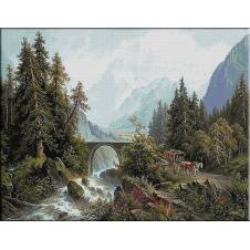 1951.J. Burgaritzki - Trecatoare in Alpi