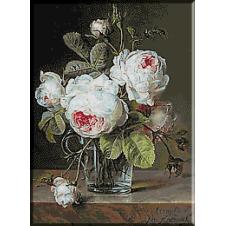 2131.Cornelis van Spaendonck - Cana de sticla cu trandafiri