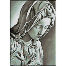 701.Michelangelo. Madona cu copil (det.1)