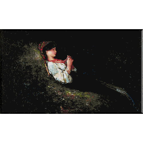 goblen_N.Grigorescu.Fata cu margele rosii