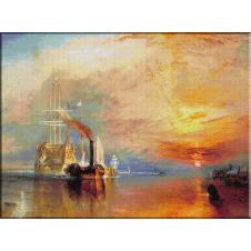 """946.Turner-Vasul de lupta """"Temeraire"""" remorcat spre a fi distrus"""