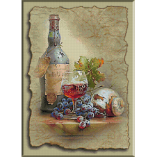 2348.Cristina.A glass of vintage wine