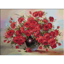 2434.Vase with roses