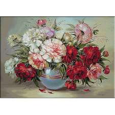 2435.Vase with peonies