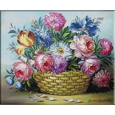 cos cu flori-goblen