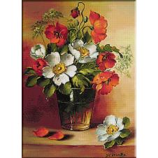 cos cu trandafiri galbeni-goblen