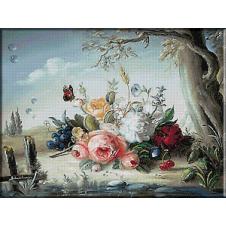 goblen flori-picaturi