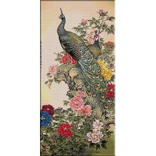 goblen pauni-printre flori