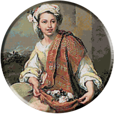 Murillo.Vanzatoarea de flori
