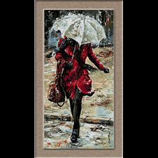mergand prin ploaie-goblen