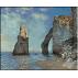 345.Monet - Stanci si faleza in aval