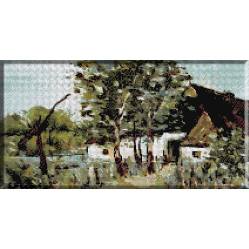 481.Luchian - Peisaj cu casa de tara