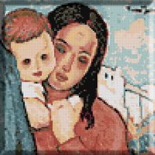 522.Tonitza - Mama cu copil