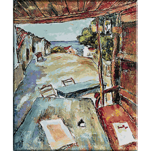 527.Tonitza - Cafenea in Mangalia