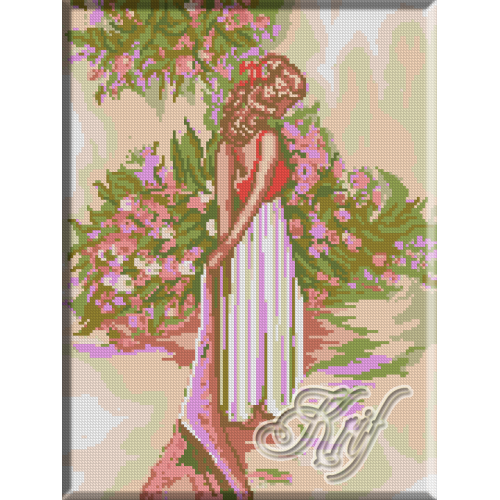 056. Fetita cu flori