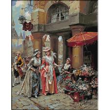 1794.Henry Victor Lesur - Piata de flori