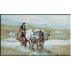 581.Grigorescu - Car cu boi trecand prin vad