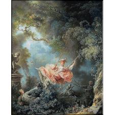 096.Fragonard. Fata in balansoar