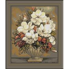 717. Vaza cu magnolii
