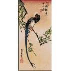 741.Hiroshige. Pasarea albastra